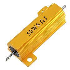 50W 8 Ohm 5% di alluminio Ospitato filo avvolto Potenza Resistenza tono oro HK
