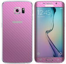 Con Textura Skin Adhesivo Para Samsung Galaxy S7 Borde Carbono Metal Mate calcomanía Wrap