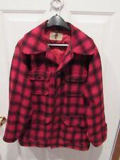 VTG 1950's LL Bean Buffalo Plaid Wool Lumberjack Hunting Coat men's size 40 VGC