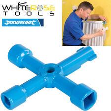 Silverline 4 Way Utility Key Radiator Bleed Plumbing Gas Electric Meter Cabinet