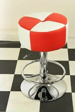 American Diner Retro Style Stool Chair Furniture Kitchen Red