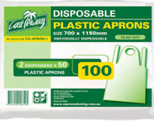 DISPOSABLE APRONS PLASTIC - 100 PER PACKET - FREE POST