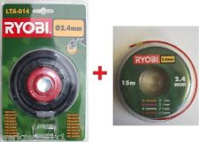 HOMELITE / Ryobi tête à deux fils kpl.lta014 f3035,hbc26,RBC30+ 15m fil de