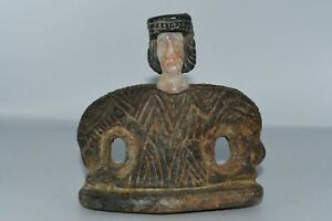 Rare Large Ancient Bactrian Idol Stone Statue of Goddess from Balkh Afghanistan