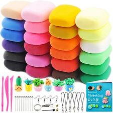 24 Bright Colors Air Dry Clay Kit Ultra Light Clay Magic Modeling Clay