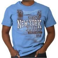 New York Empire State Camping Souvenir USA Adult Short Sleeve Crewneck Tee