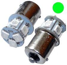 2x Ampoules 24V P21W R10W R5W 8LED SMD vert pour camion semi-remorque portail