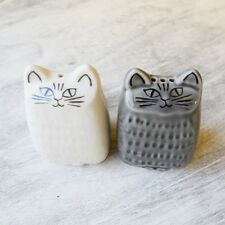 Cute! !Lisa Larson Salt&Pepper shakers Pottery Liten Katt JAPAN F/S w/tracking