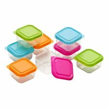 PACK OF 8 SMALL MINI SQUARE FOOD CONTAINERS PLASTIC STORAGE BOXES FOR SPICES NUT