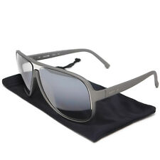 Lacoste L637S-045 Ultralight 25g Sunglasses Satin Grey with Grey lenses Rx-able