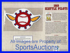 1969 SEATTLE PILOTS ~ Willabee & Ward COOPERSTOWN COLLECTION BASEBALL TEAM PATCH