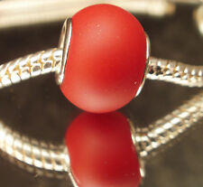 Edler Glas Bead Element Matt Rot für Armband 0452