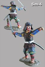 Painted Toy Tin Soldiers Japanese Samurai with Katana 1/32 Figure Infantry 54mm