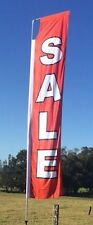 Sale Advertising Flat Top Flag - Red & White (300cm x 70cm)