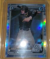 Robert Hassell 2020 Bowman Draft Chrome BD-39 Refractor RC Padres 1ST RD #8 Pick