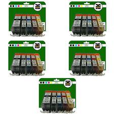 25 Cartucce d'inchiostro per Canon Pixma IP4850 IP4950 iX6250 iX6550 NON-OEM 525-526