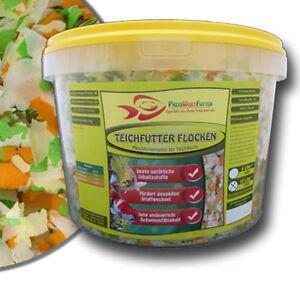 Teichflocken 10 Liter Eimer 1,2 kg Fischfutter Flocken Teichfutter Futter Koi