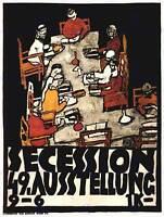 EXHIBITION SECESSION ART AUSTRIA VIENNA KLIMT VINTAGE ADVERTISING POSTER 1764PY