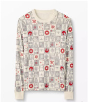 Hanna Andersson Star Wars Holiday Pajama Top XL Adult Long Sleeve Shirt