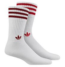 Adidas originals Socks 3 Stripes crew trefoil 2 Pairs white men women 8.5-11