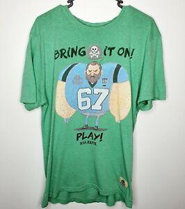 Kappa Bring It On Green FootBall Graphic Tee Mens T-Shirt SZ M Logo Casual Wear