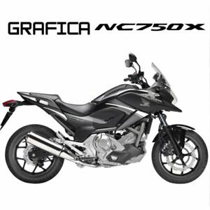 ADESIVI DECAL STICKERS HONDA NC750X NC 750 X RACIN CARENA GRAFICA BIANCO ARGENT