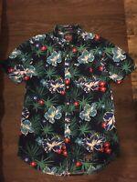 """""""SuperDry"""" Mens Short Sleeved Tropical Floral Shirt Size (Med) Vintage"""