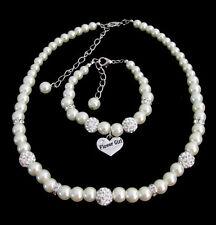 Flower Girl Jewelry,Necklace,Bracelet Junior Bridesmaid Mini Bride gift Jewelry