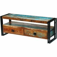 vidaXL 243275 Recycled Timber Side Cabinet with 2 Drawer TV Stand