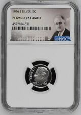 1996-S ROOSEVELT SILVER PROOF DIME 10c NGC PF69 ULTRA CAMEO (Portrait Label)