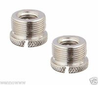 (2 Pack) - Screw Thread Adapter for Microphone Stand (5/8 Male to 3/8 Female)