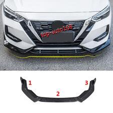 Carbon Fiber Look Front Bumper Lip Body Spoiler 3pcs For Nissan Sentra 2020-2021