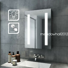LED Lights Bathroom Mirror Wall Mount with Demister Pad Touch Control Vertical