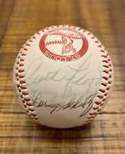ST. LOUIS CARDINALS MULTI-SIGNED BASEBALL CURT FLOOD TERRY MOORE BOB UECKER +