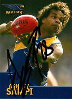 ✺Signed✺ 2006 WEST COAST EAGLES AFL Premiers Card ASHLEY SAMPI