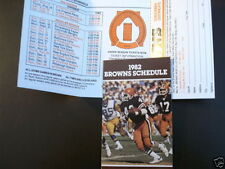 Football Cleveland Browns Vintage Sports Schedules
