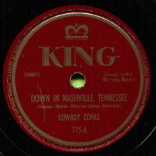 COWBOY COPAS (Down In Nashville Tennessee) CLASSIC COUNTRY 78 RPM RECORD