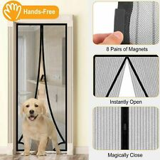 Magnetic Screen Door Net Anti Mosquito Mesh Hands-Free Bug Curtain Patio USA
