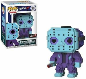 8-BIT JASON VOORHEES Friday the 13th Funko Pop #26 Game Stop Exclusive NEW!