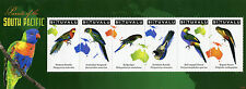 Tuvalu 2011 MNH Parrots of South Pacific 6v MS Birds Rosella Budgerigar Stamps