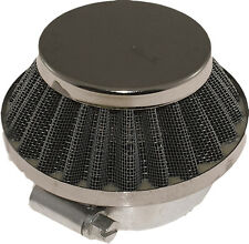 """OUTSIDE AIR FILTER 42MM 1.7"""" WIRE MESH SHORT CONE"""