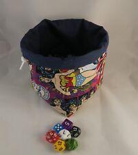 Mujer Maravilla de bolsa de dados-cuadrado Base-Reversible Bolsa De Cordón-Azulejo RPG D&D