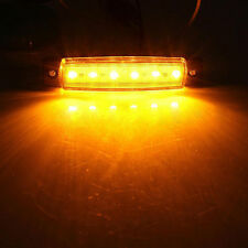 Amber 6 LED Side Marker Indicator Clearance Lights Lamp Truck Trailer Car 12V
