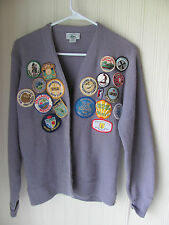 VTG 1970's IZOD Cardigan Sweater with Patches, Royal Troon, PGA Nat. TPC &  More