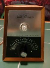 Antique Seth Thomas Metronome, Vacuum Tube, Electronic & Wood, c.1960 Tested