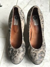 Lanvin Wedges Brown Leather Round Toe Size 41