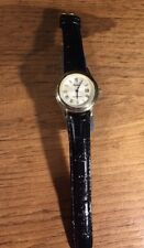 New Men's STAUER Wristwatch Black Genuine Leather Band