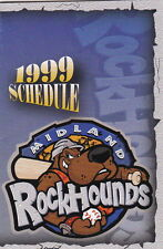 1999 MIDLAND ROCKHOUNDS MINOR LEAAGUE BASEBALL POCKET SCHEDULE