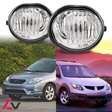 03-08 For Toyota Matrix Clear Lens Pair OE Fog Light Lamp+Wiring+Switch Kit DOT