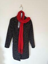 Gorgeous F & F Leopard Print Faux Wool Longline Coat/Blazer-UK 10/EU 38-BNWT